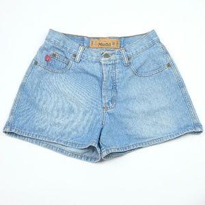 Mudd Light Denim Jean Shorts Size 7, Vintage 1990s